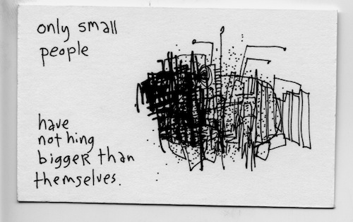 Only small people