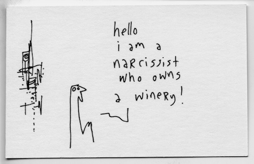 Narcissist who owns a winery