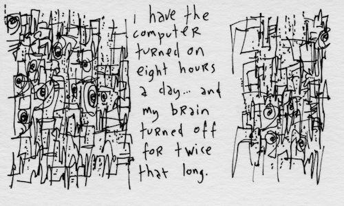 Brain turned off