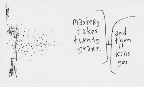 Mastery takes twenty years