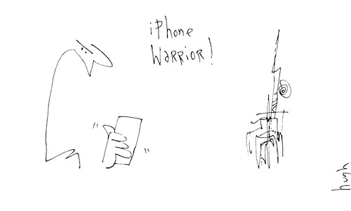 iPhone warrior