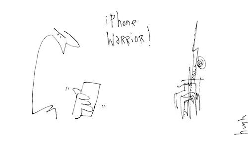 iPhone warrior