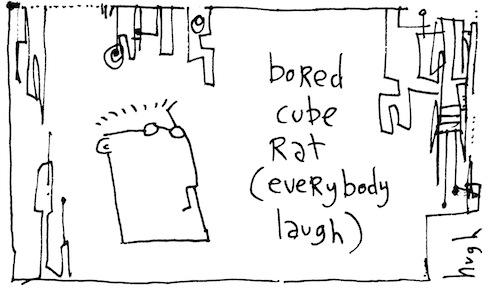 Bored cube rat