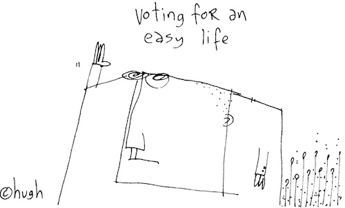 Voting for an easy life