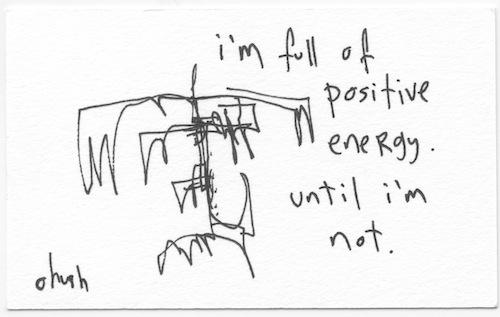 Full of positive energy