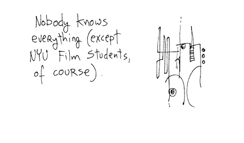 NYU film students