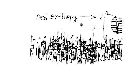 Dead ex-hippie