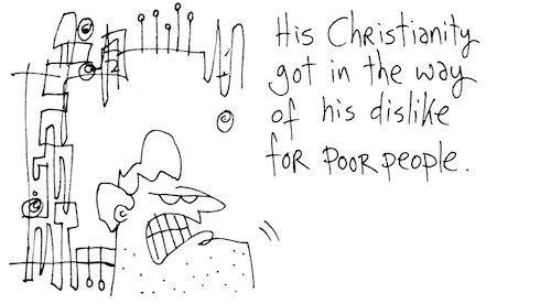 Dislike for poor people