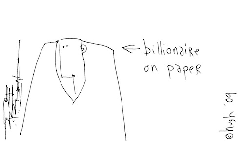 Billionaire on paper