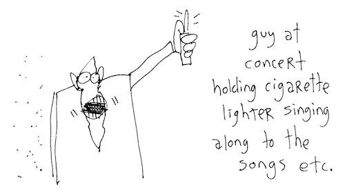 Guy at concert