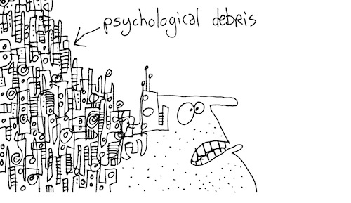 Psychological debris