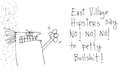 East Village hipsters