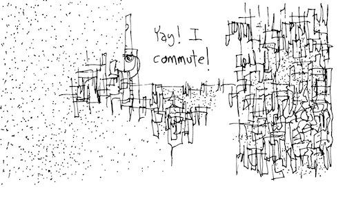 I commute