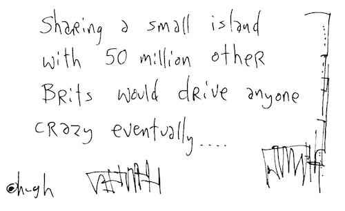 Sharing a small island