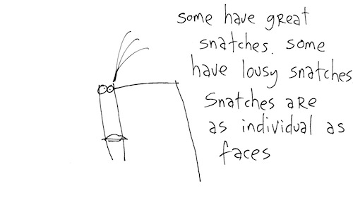 Snatches are as individual as faces