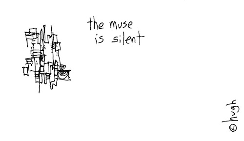 The muse is silent