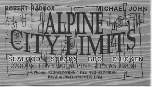 Alpine city limits