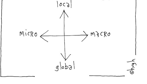 Local global micro macro