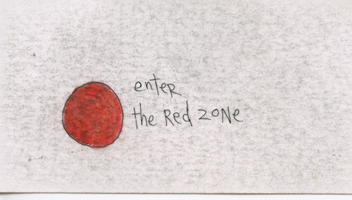 Enter the red zone