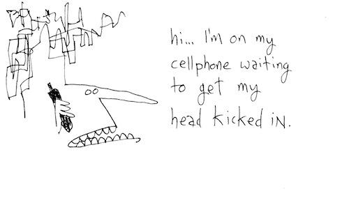 On my cellphone