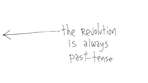 Revolution is always past-tense