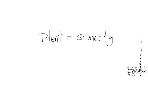 Talent = scarcity